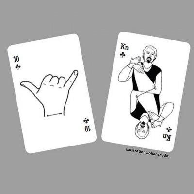 Kortlek på teckenspråk