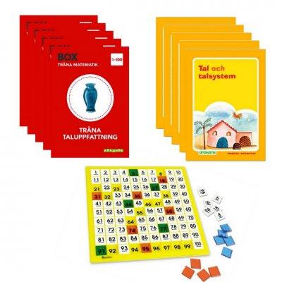 Börja med matte-Kit 0-100 (För fem elever)