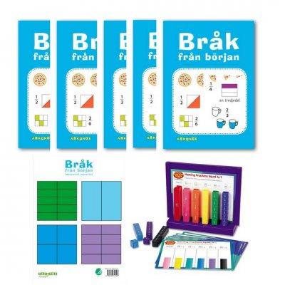 Räkna med bråk-Kit (för fem elever)